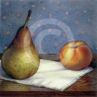 Pear and Peach by Jeremiah Patterson