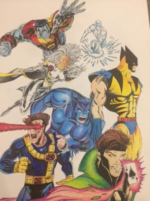 Drawing Super Heroes in Color
